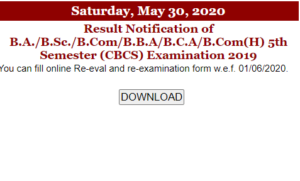 Jammu University BA B.Sc B.Com 5th Sem Result 2020