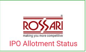Rossari Biotech IPO Allotment Status